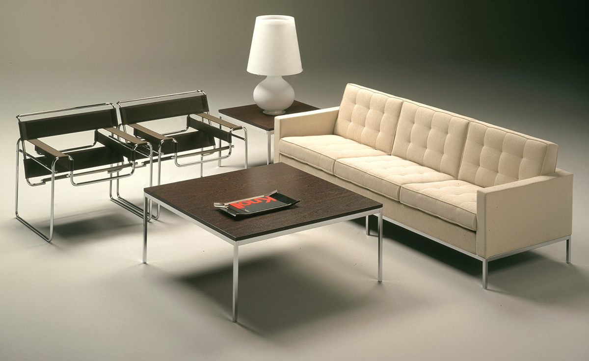florence knoll square coffee table - hivemodern