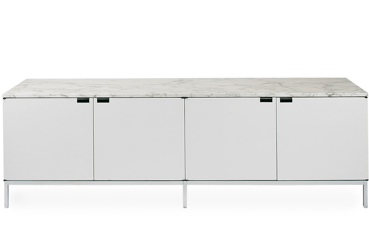 Superbe Florence Knoll 4 Position Credenza With Cabinets
