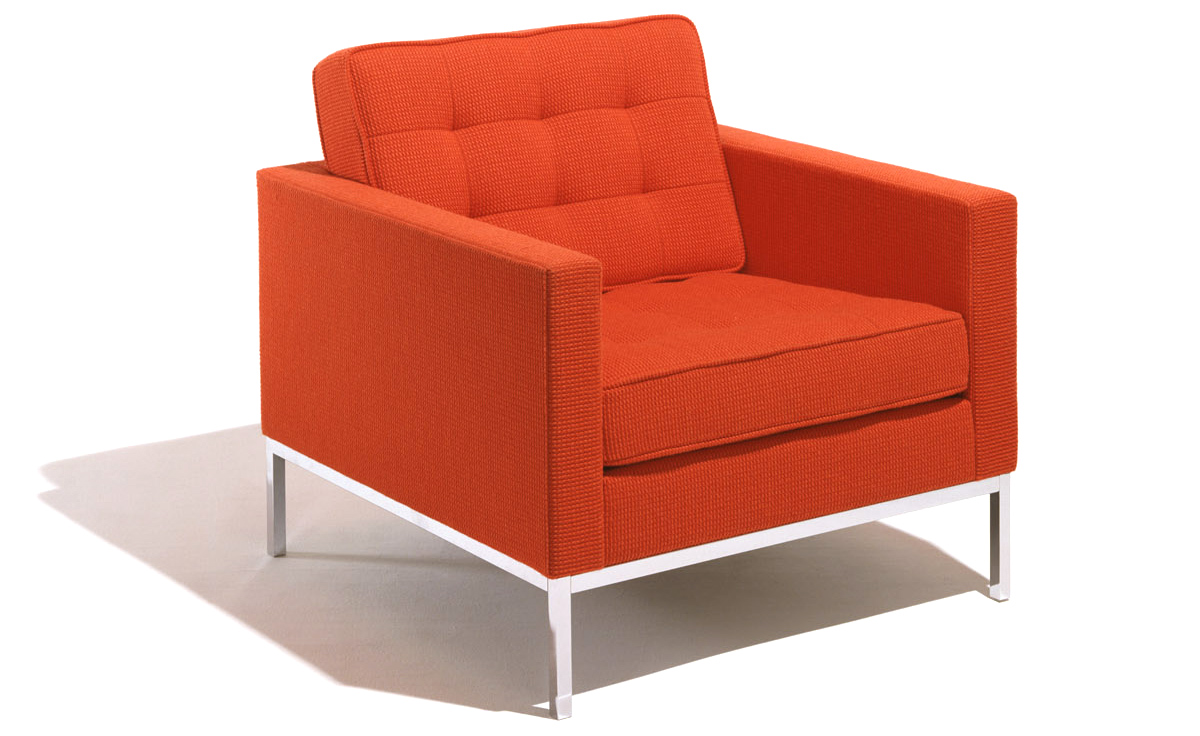 Florence knoll lounge chair for Modern lounge furniture