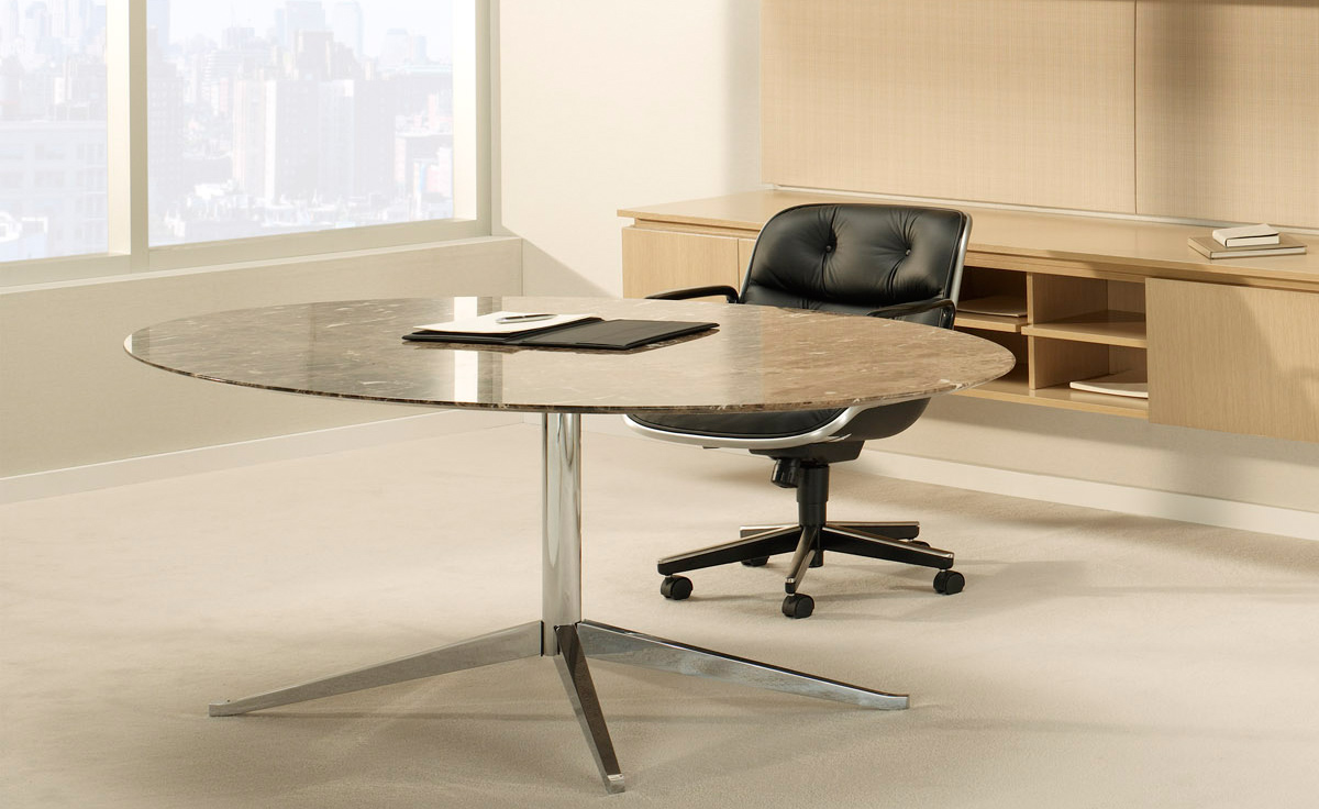Florence Knoll 96 Quot Oval Table Hivemodern Com