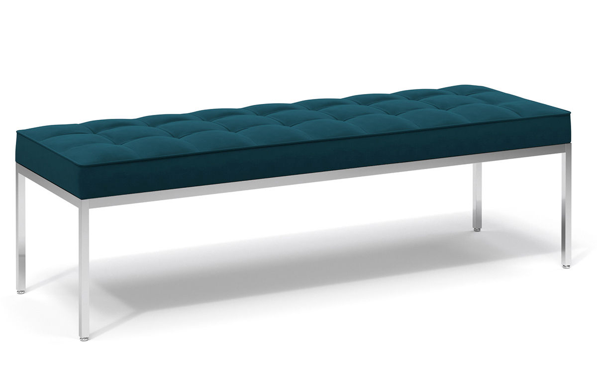 Florence Knoll Relaxed Three Seat Bench Hivemodern Com
