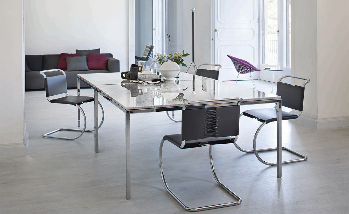 Florence Knoll Square Dining Table - hivemodern.com