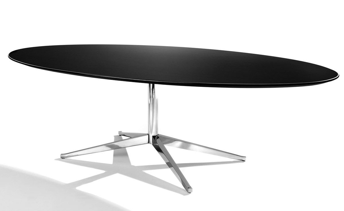 "Florence Knoll 78"" Oval Table"