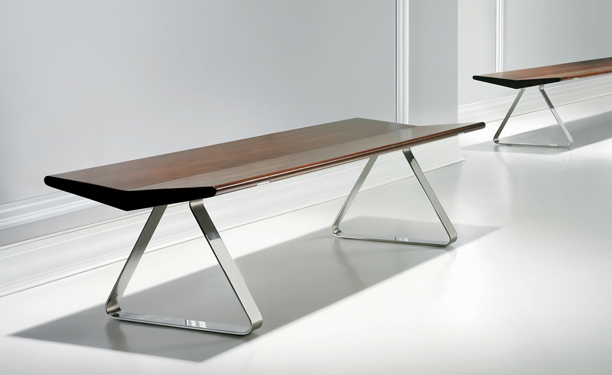 Fly bench for Modern metal chairs