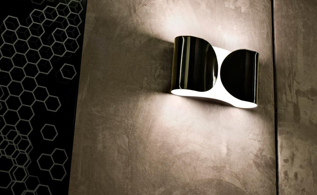 Foglio Incandescent Wall Lamp Hivemodern Com