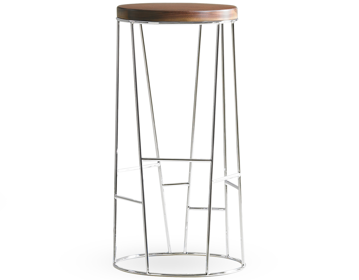 Forest Stool With Wood Seat Hivemodern Com