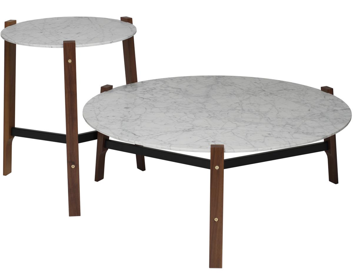 Free Range Coffee Table Hivemoderncom - Walnut and marble coffee table