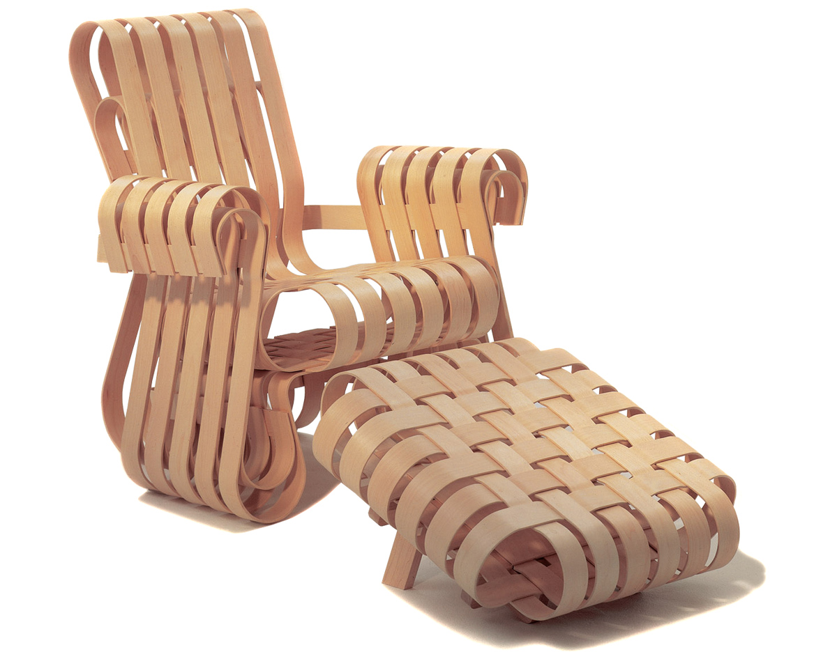 Gehry power play lounge chair hivemodern com