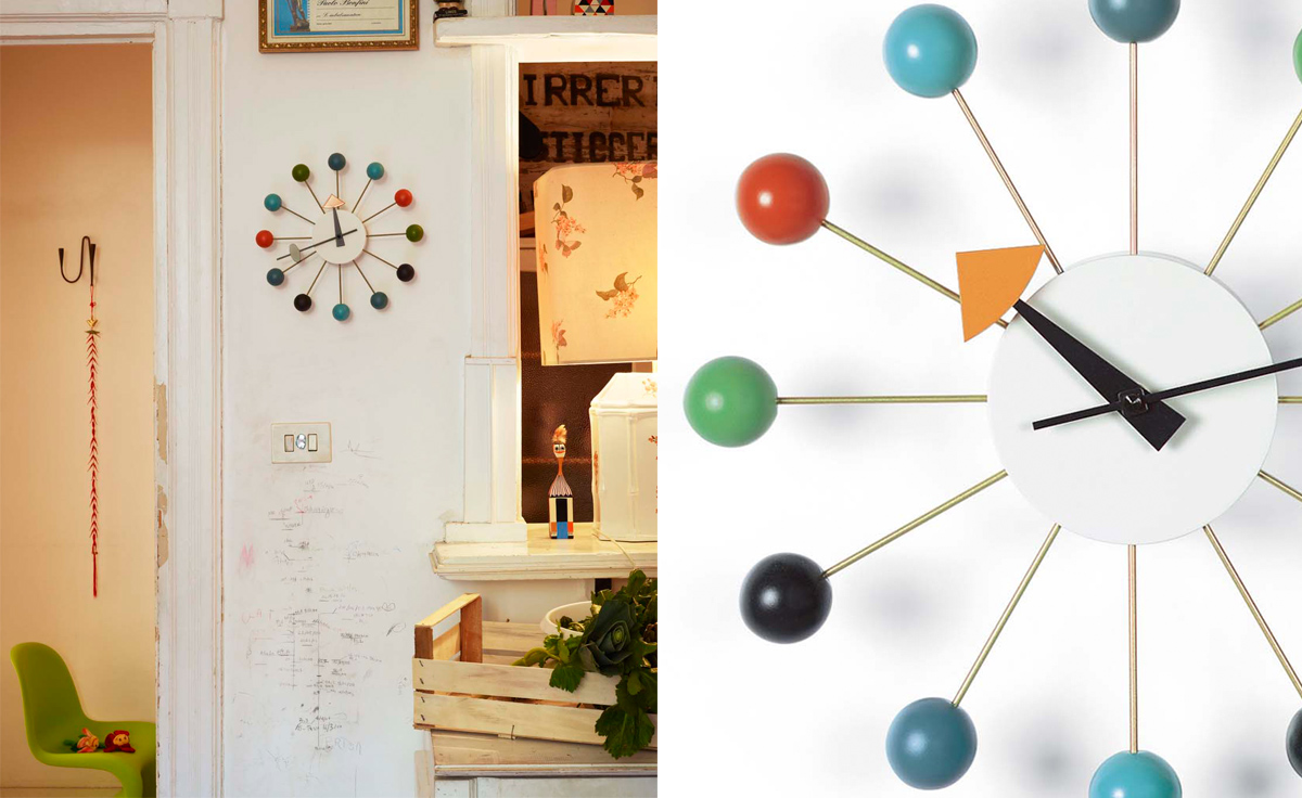 george nelson ball clock in multicolor. Black Bedroom Furniture Sets. Home Design Ideas