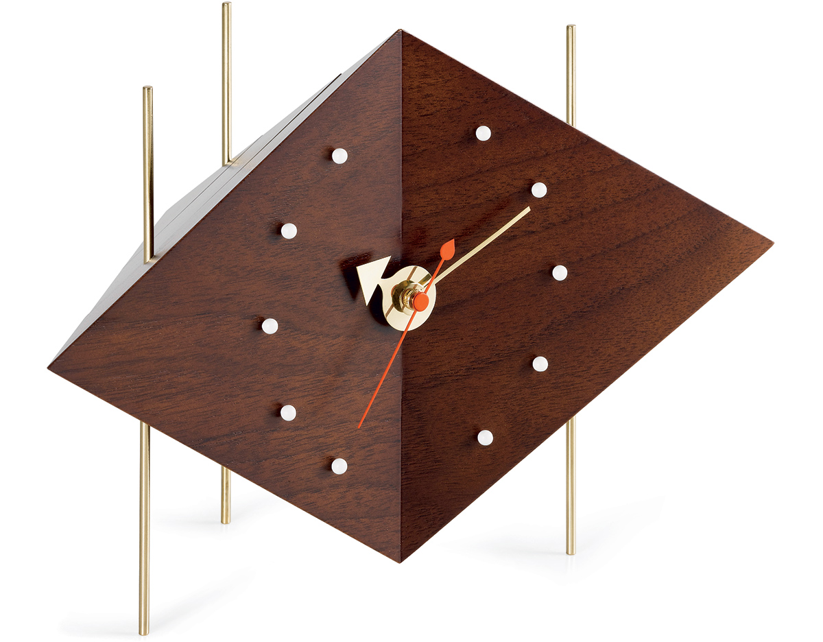 George Nelson Diamond Desk Clock Hivemodern Com