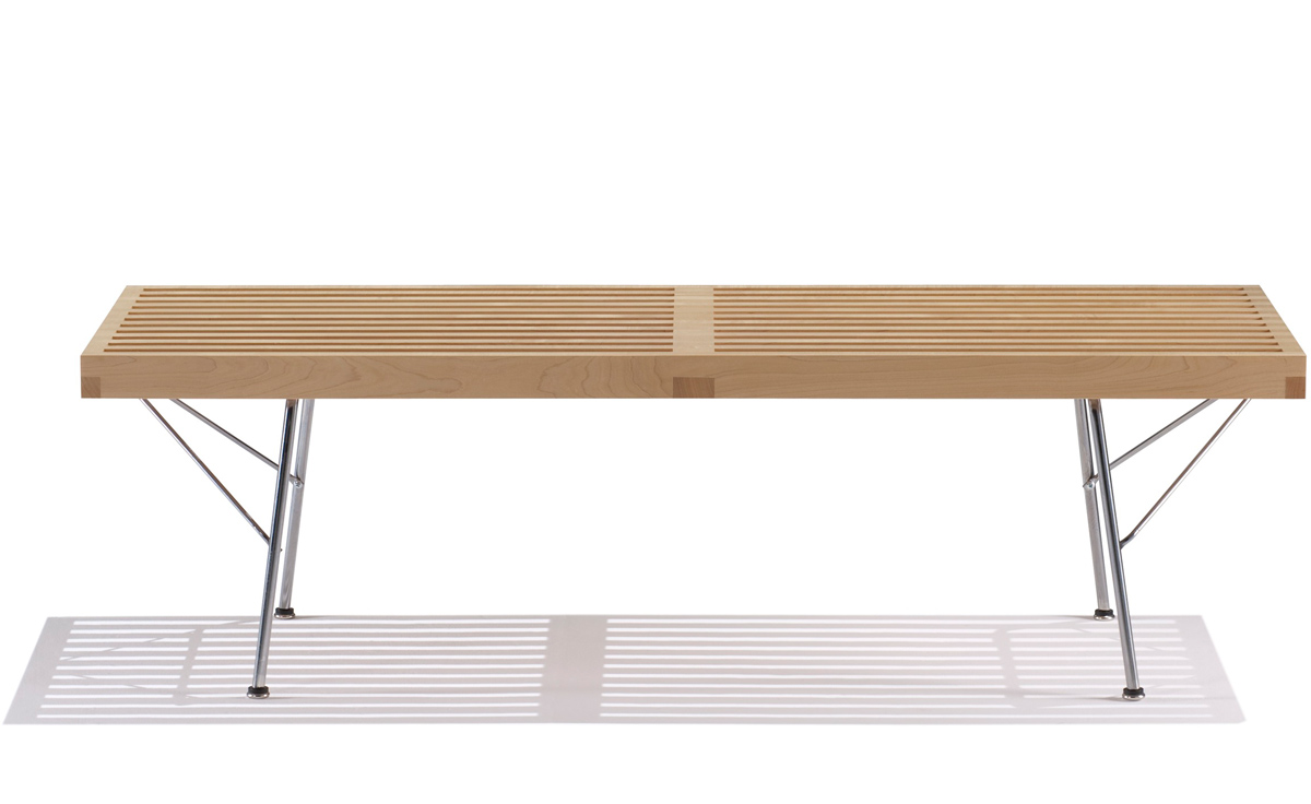 george nelson™ platform bench with metal base  hivemoderncom - overview
