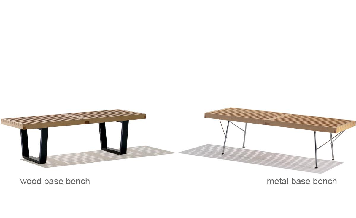 George Nelson Platform Bench With Metal Base Hivemoderncom - Metal base picnic table