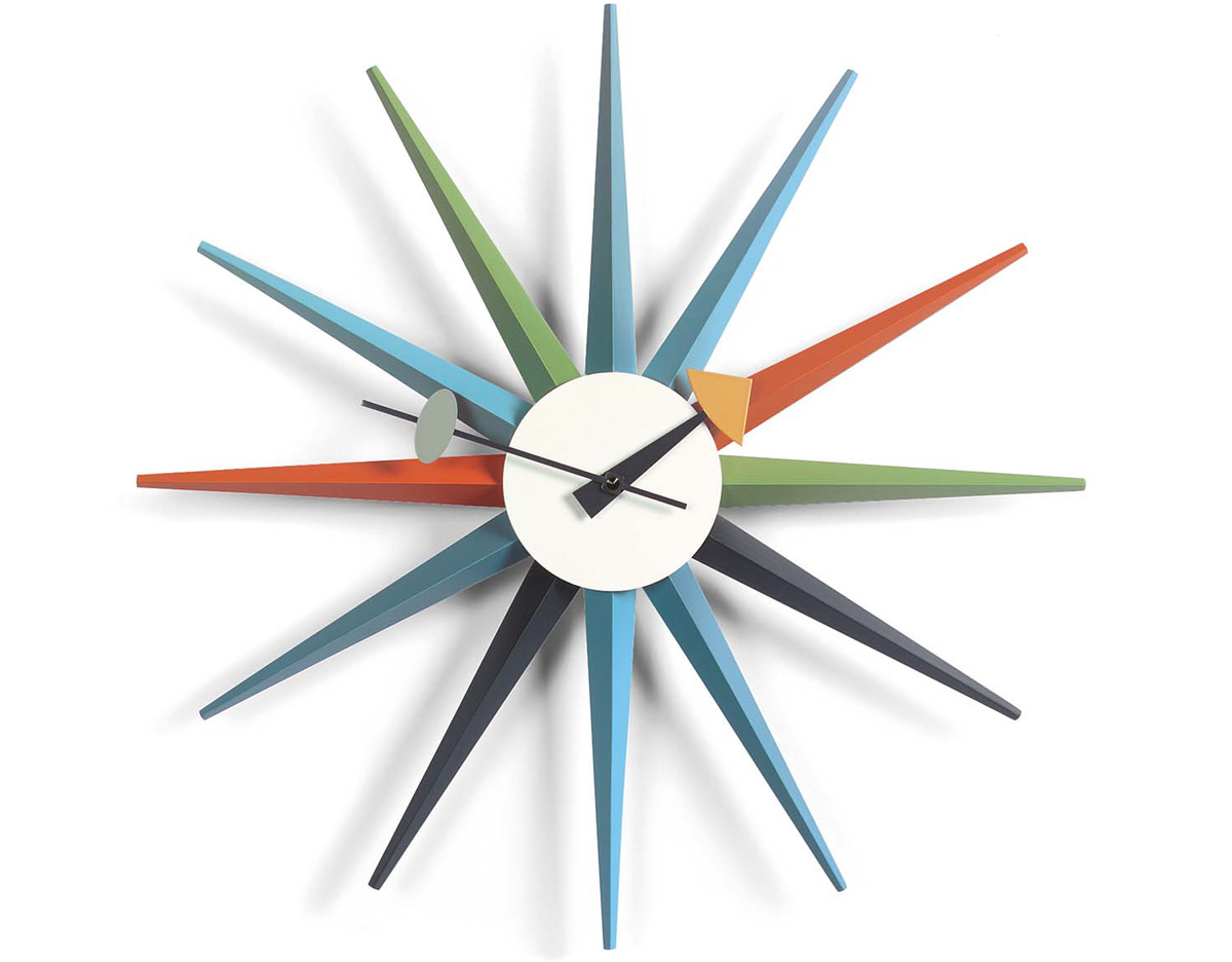 george nelson sunburst clock multicolor  hivemoderncom - overview