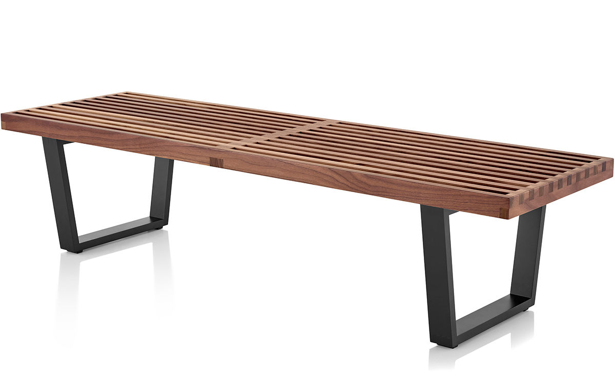 George Nelson Platform Bench With Wood Base