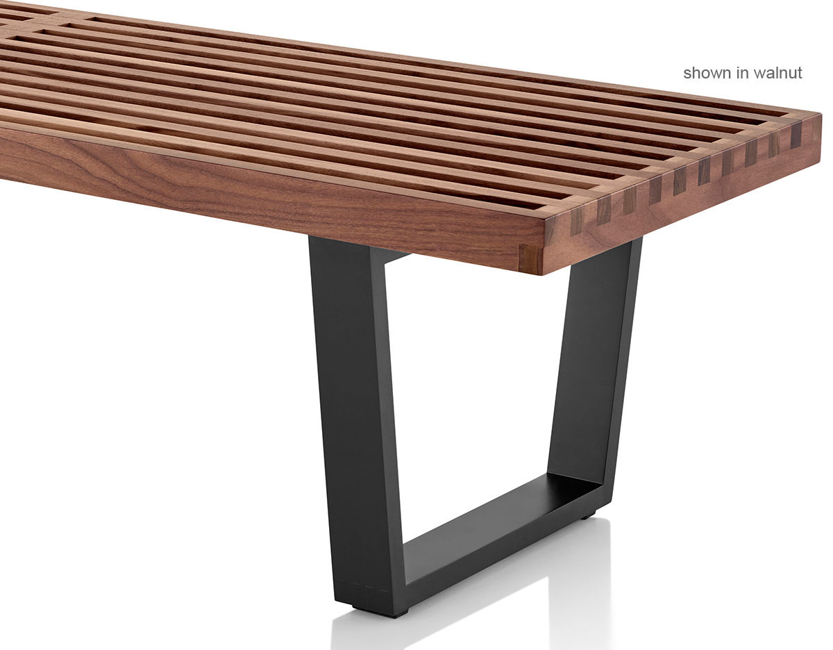 george nelson™ platform bench with wood base  hivemoderncom - overview