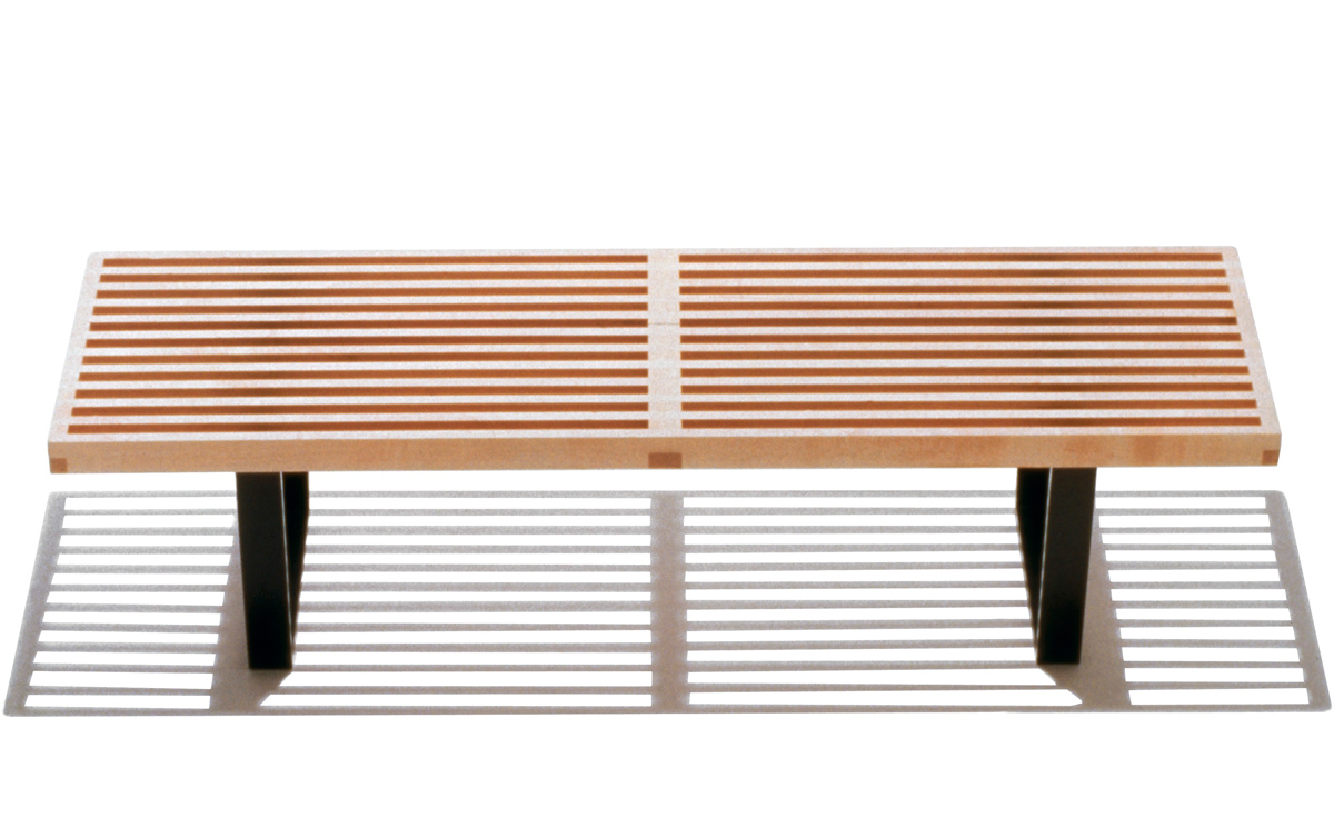 George Nelson Platform Bench With Wood Base Hivemodern Com