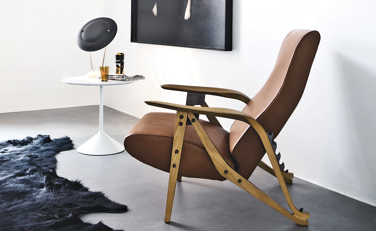 Carlo Mollino Gilda Lounge Chair Hivemodern Com
