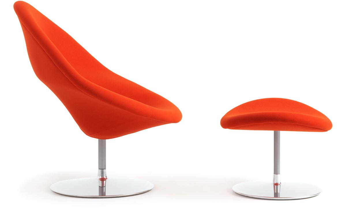Globe Lounge Chair & Ottoman