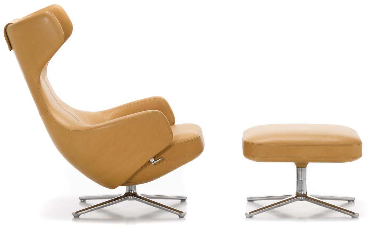 Grand repos lounge chair ottoman for Vitra lounge chair