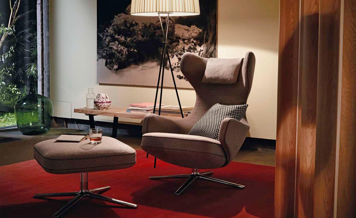 Grand Repos Lounge Chair Amp Ottoman Hivemodern Com