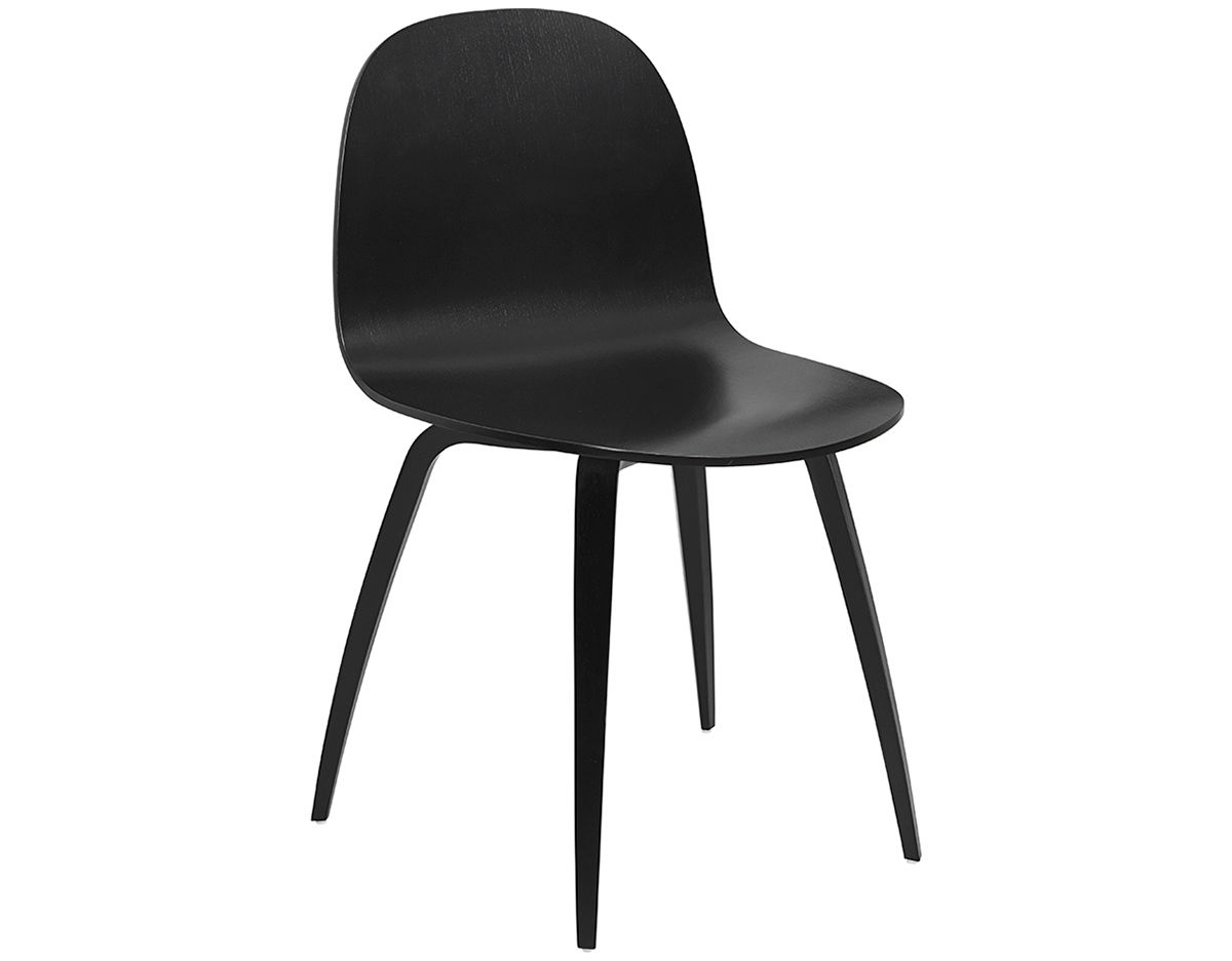 Gubi 2d Wood Base Dining Chair