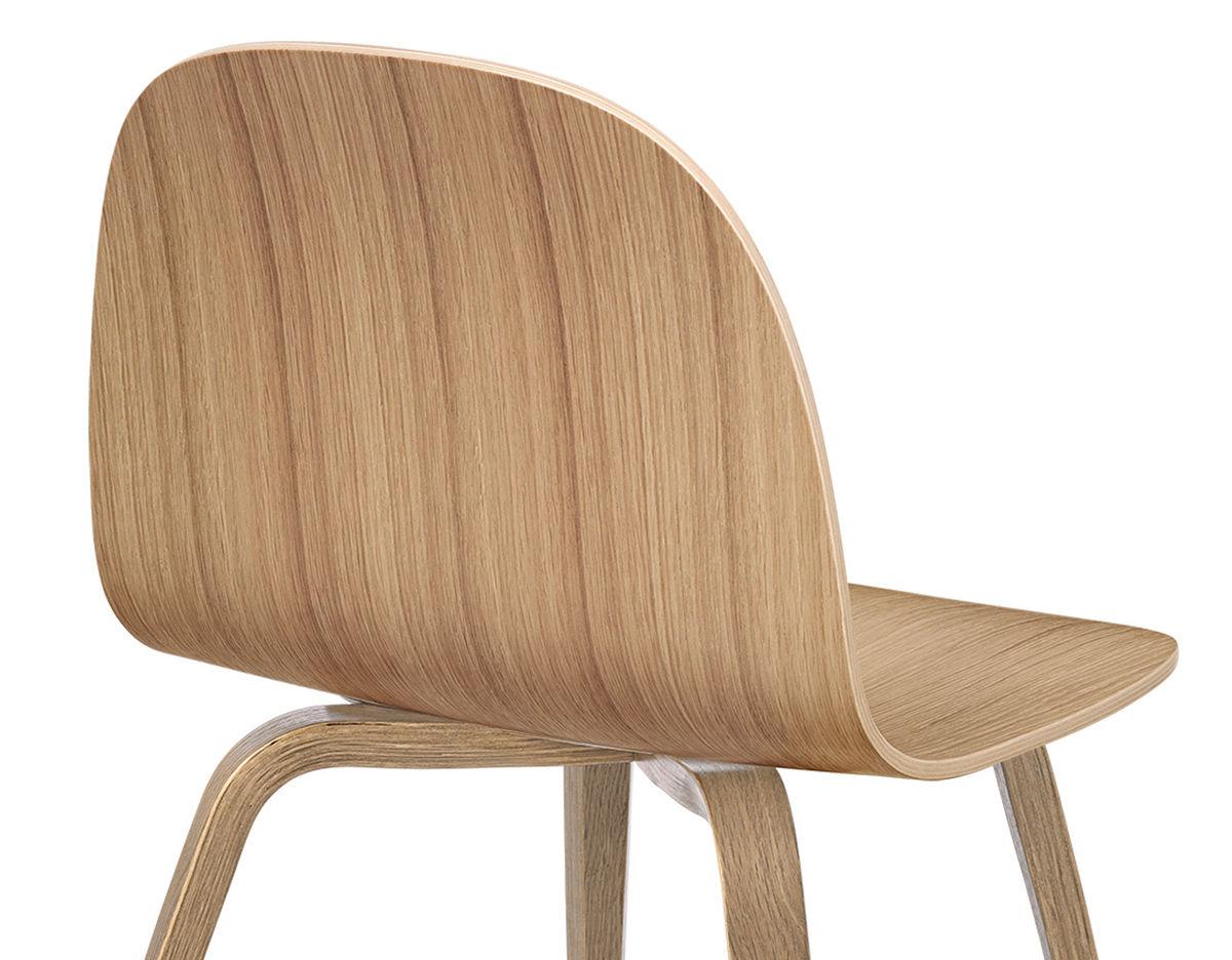 Wood Base Chairs ~ Gubi d wood base dining chair hivemodern