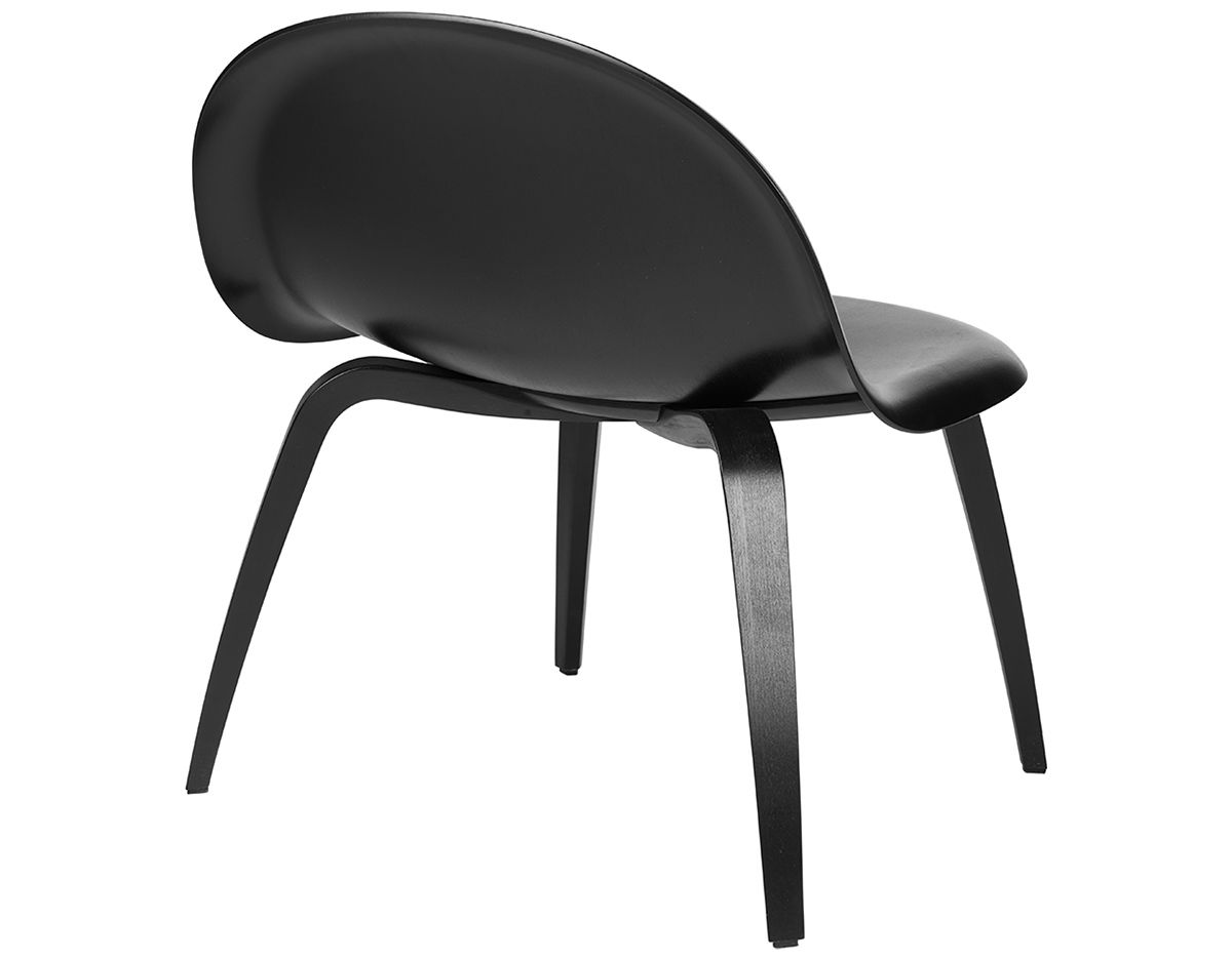 Gubi 3d Lounge Chair With Wood Base Hivemodern Com
