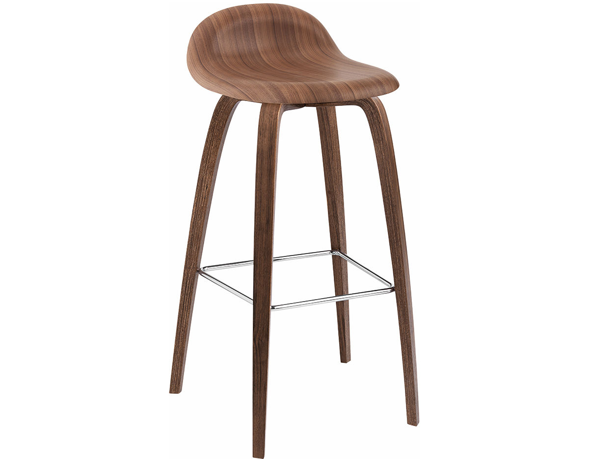 Gubi 3d Wood Base Stool Hivemodern Com