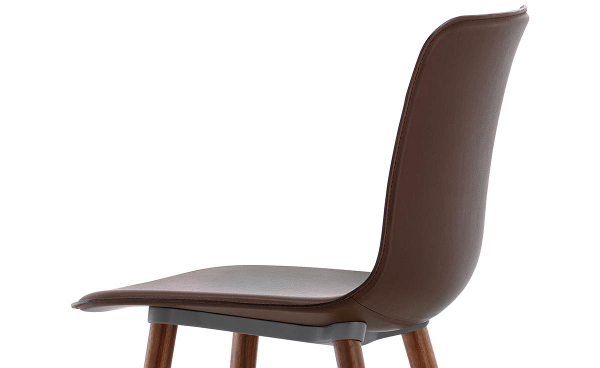 hal leather wood chair. Black Bedroom Furniture Sets. Home Design Ideas