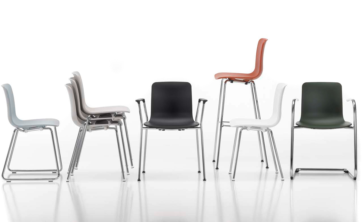 Hal Tube Stackable Side Chair - hivemodern.com
