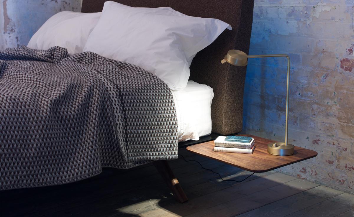 Hepburn Queen Size Bed 351aq Hivemodern Com
