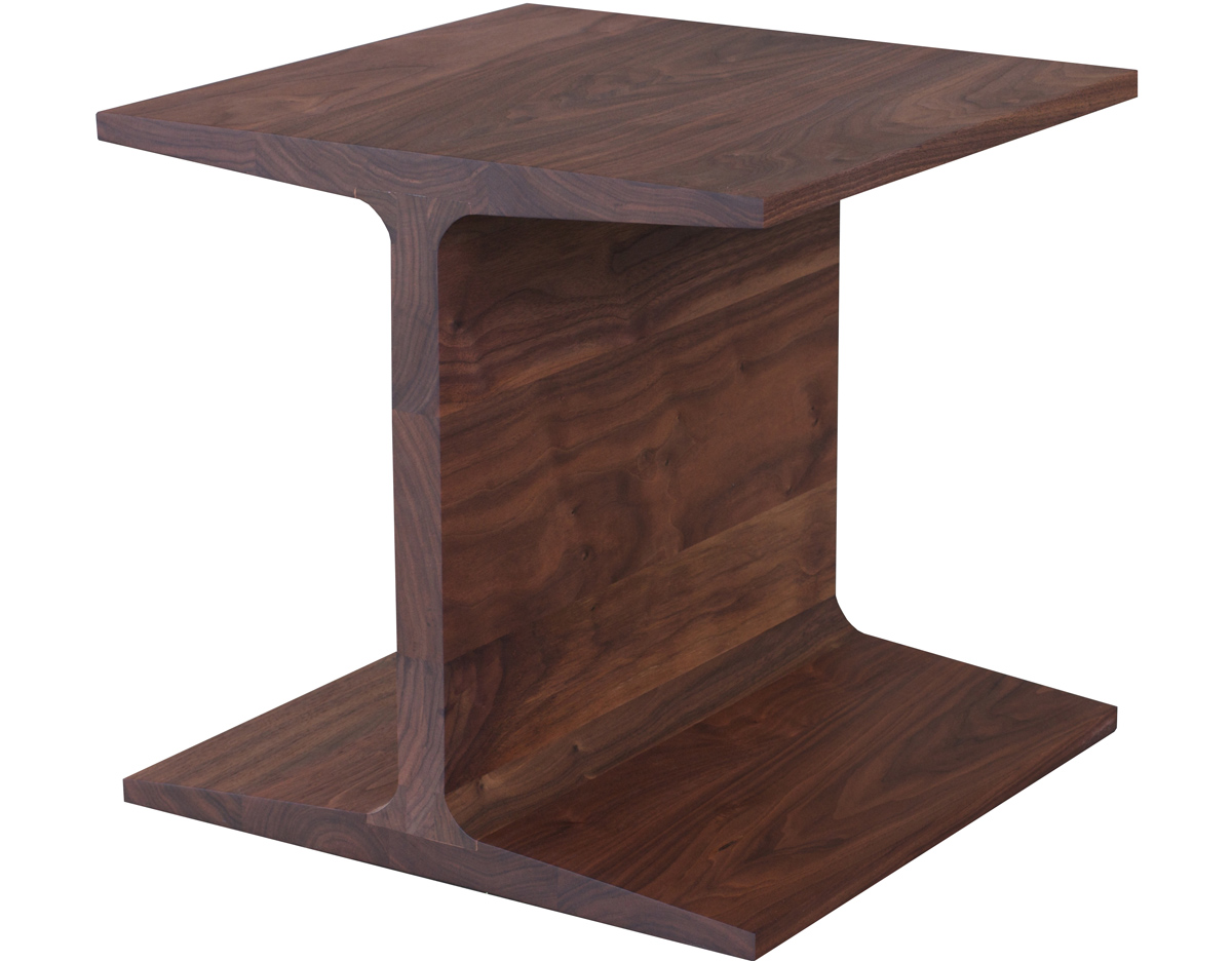 I beam Side Table 345 Hivemoderncom