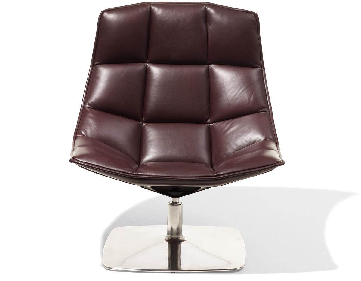jehs laub pedestal lounge chair. Black Bedroom Furniture Sets. Home Design Ideas