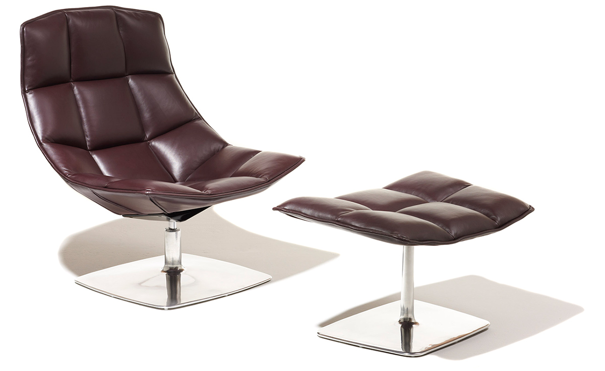 jehs laub pedestal lounge ottoman. Black Bedroom Furniture Sets. Home Design Ideas