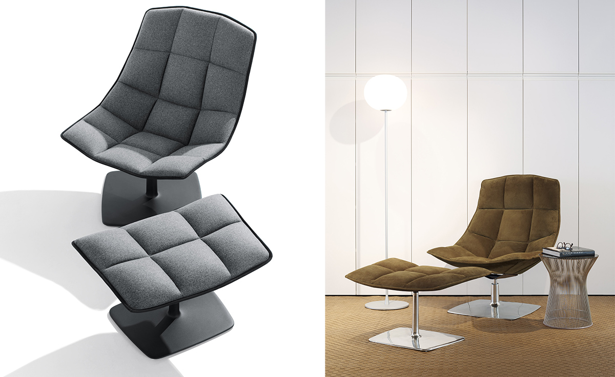 Cloth lounge by jehs laub for cassina