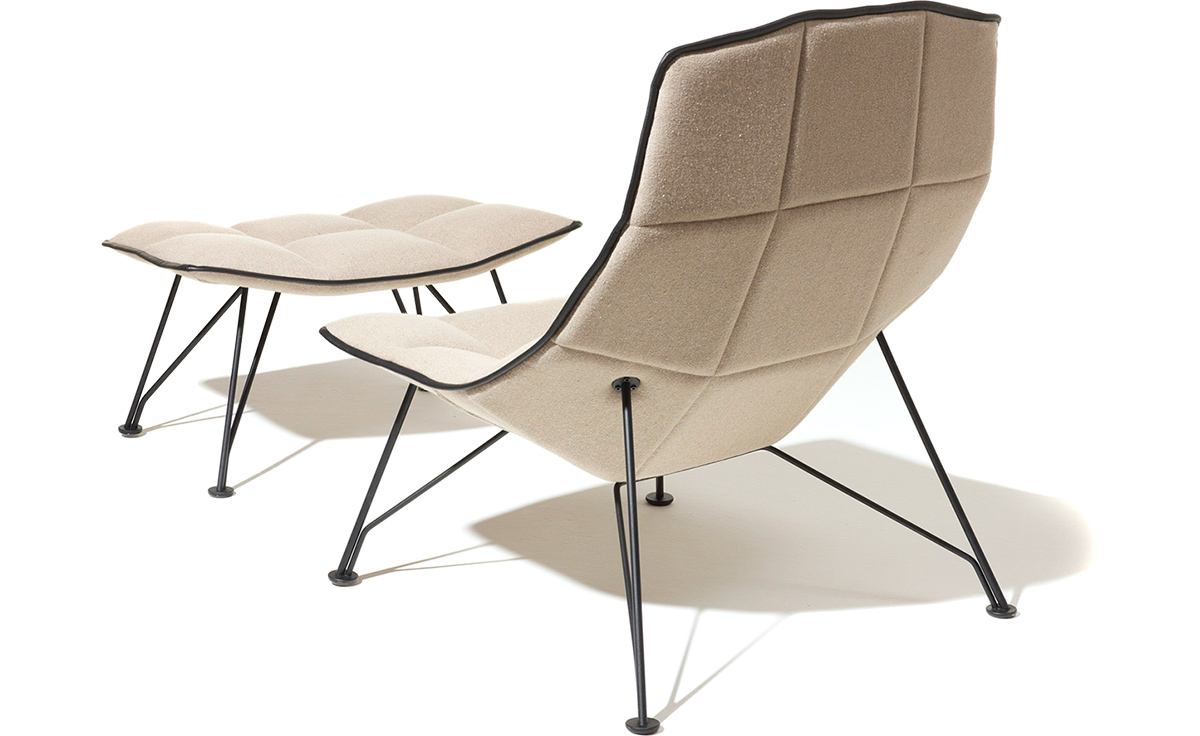 Jehs laub Wire Lounge Chair & Ottoman hivemodern