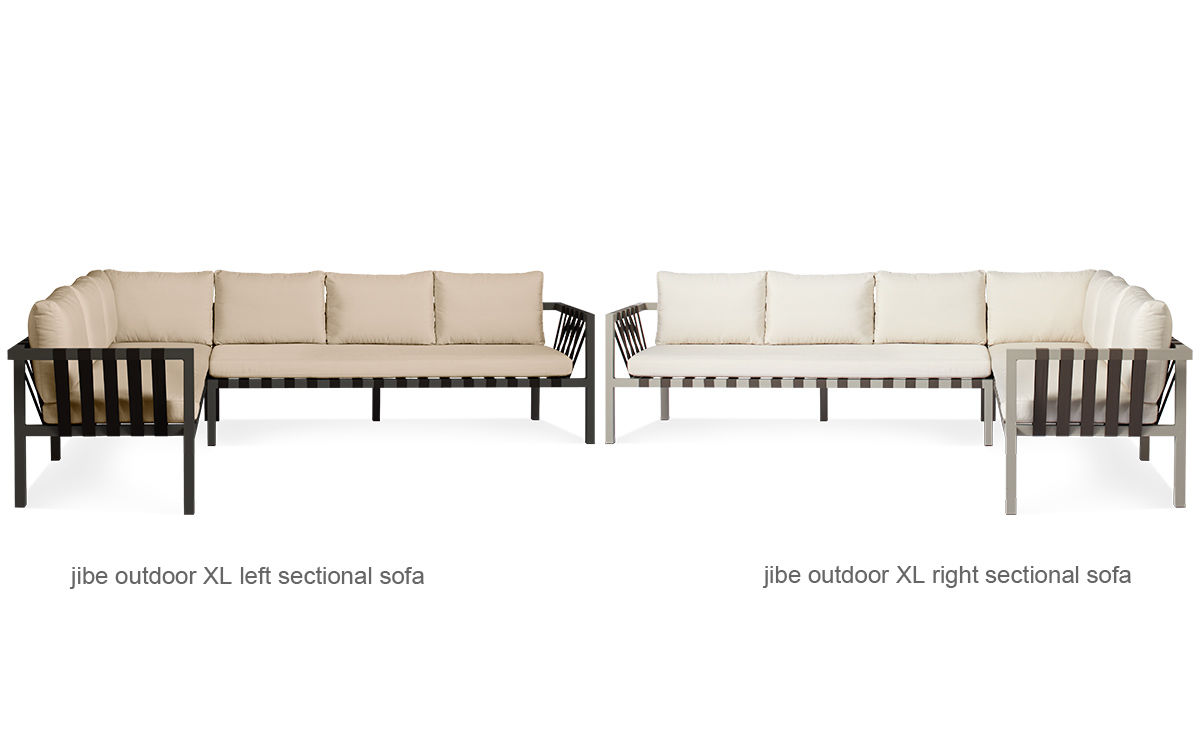 Jibe outdoor xl sectional sofa hivemoderncom for Sectional sofa xl