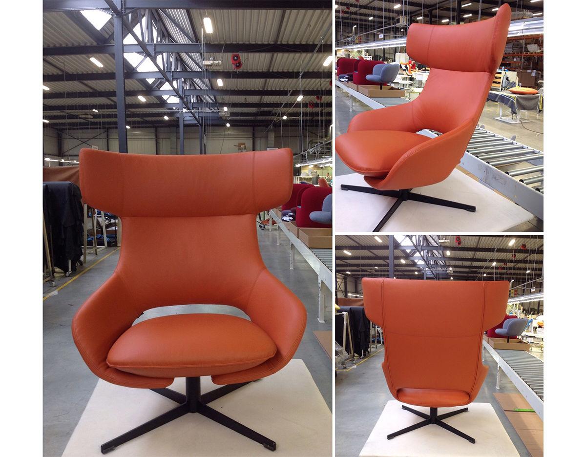 Astonishing Kalm Swivel Metal Base Lounge Chair Ottoman Pabps2019 Chair Design Images Pabps2019Com