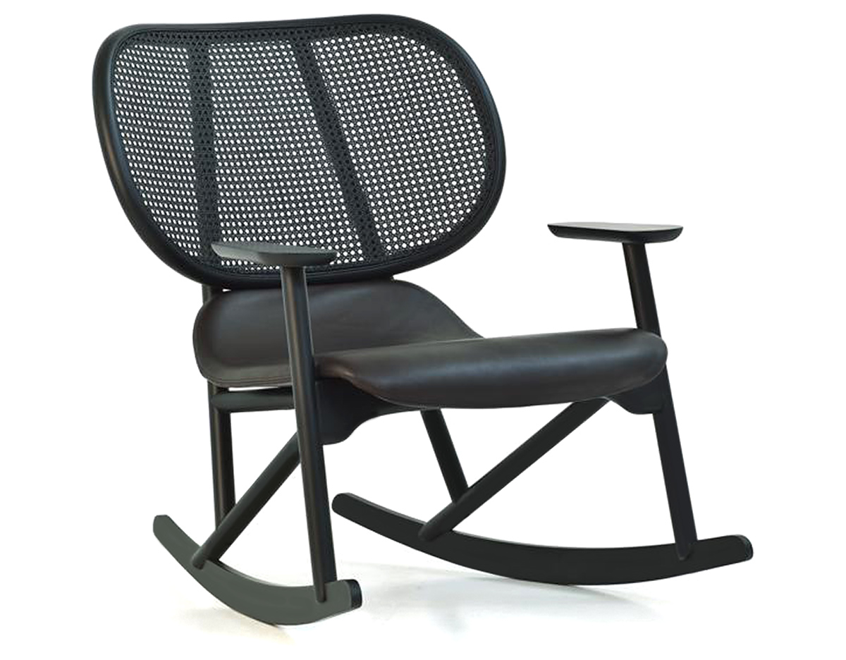 Klara Rocking Chair With Cane Back - hivemodern.com