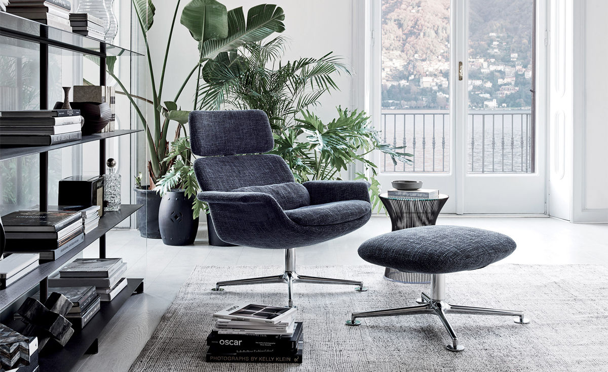 Swivel Lounge Chair With Ottoman