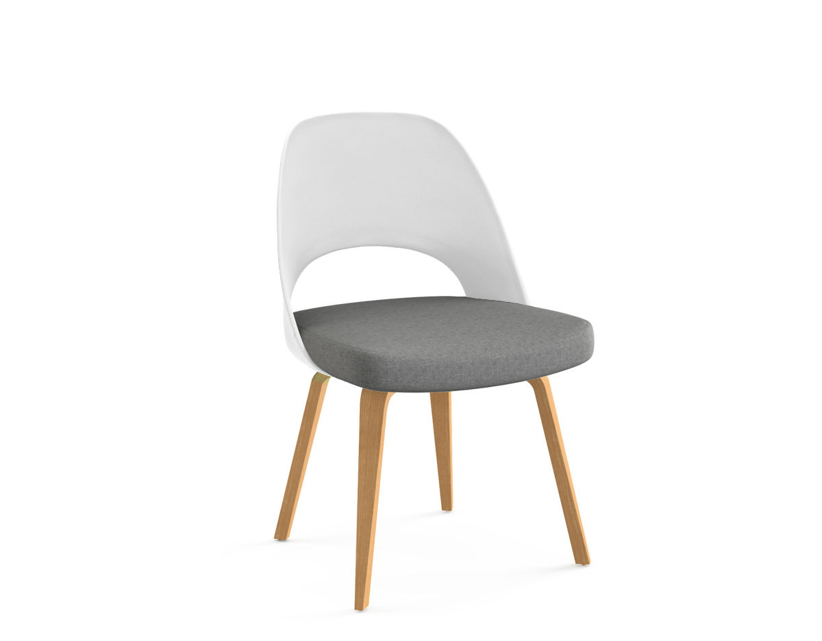 latest fashion exclusive deals 50% off saarinen plastic back side chair with wood legs