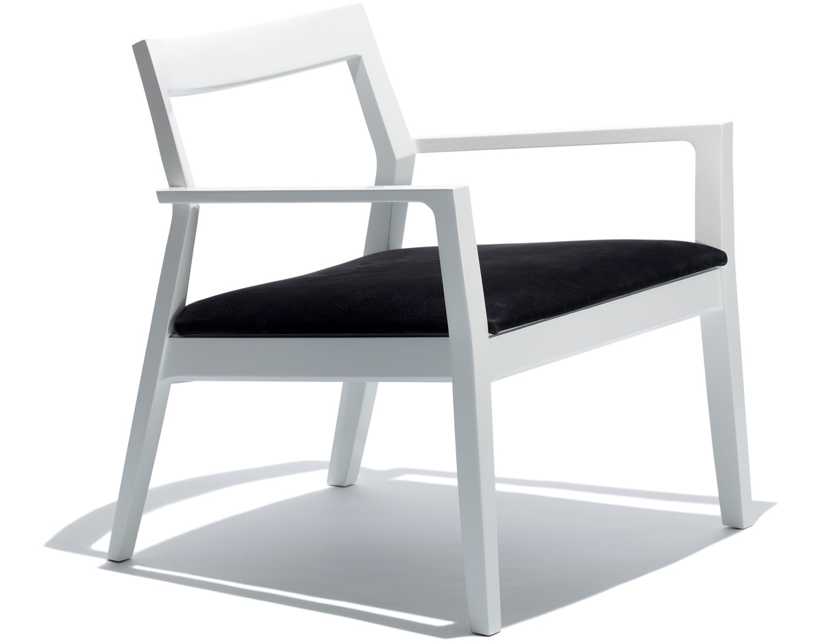 Krusin Lounge Arm Chair With Upholstered Seat Hivemodern Com