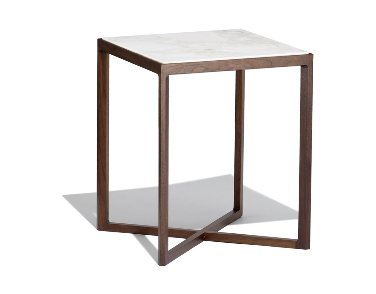 Krusin 18quot h square side table hivemoderncom for Square end table