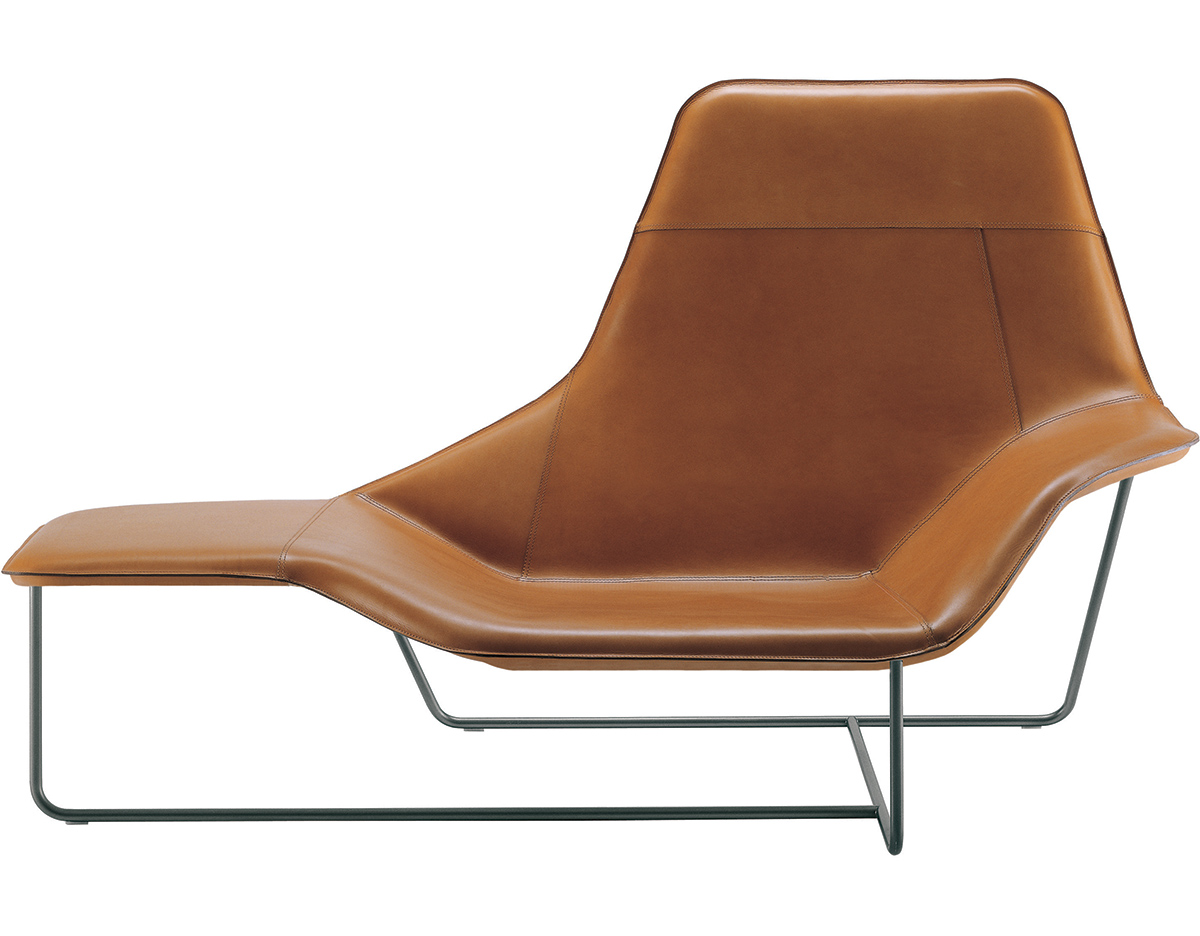 Lama lounge chair for Chaise longue design cuir