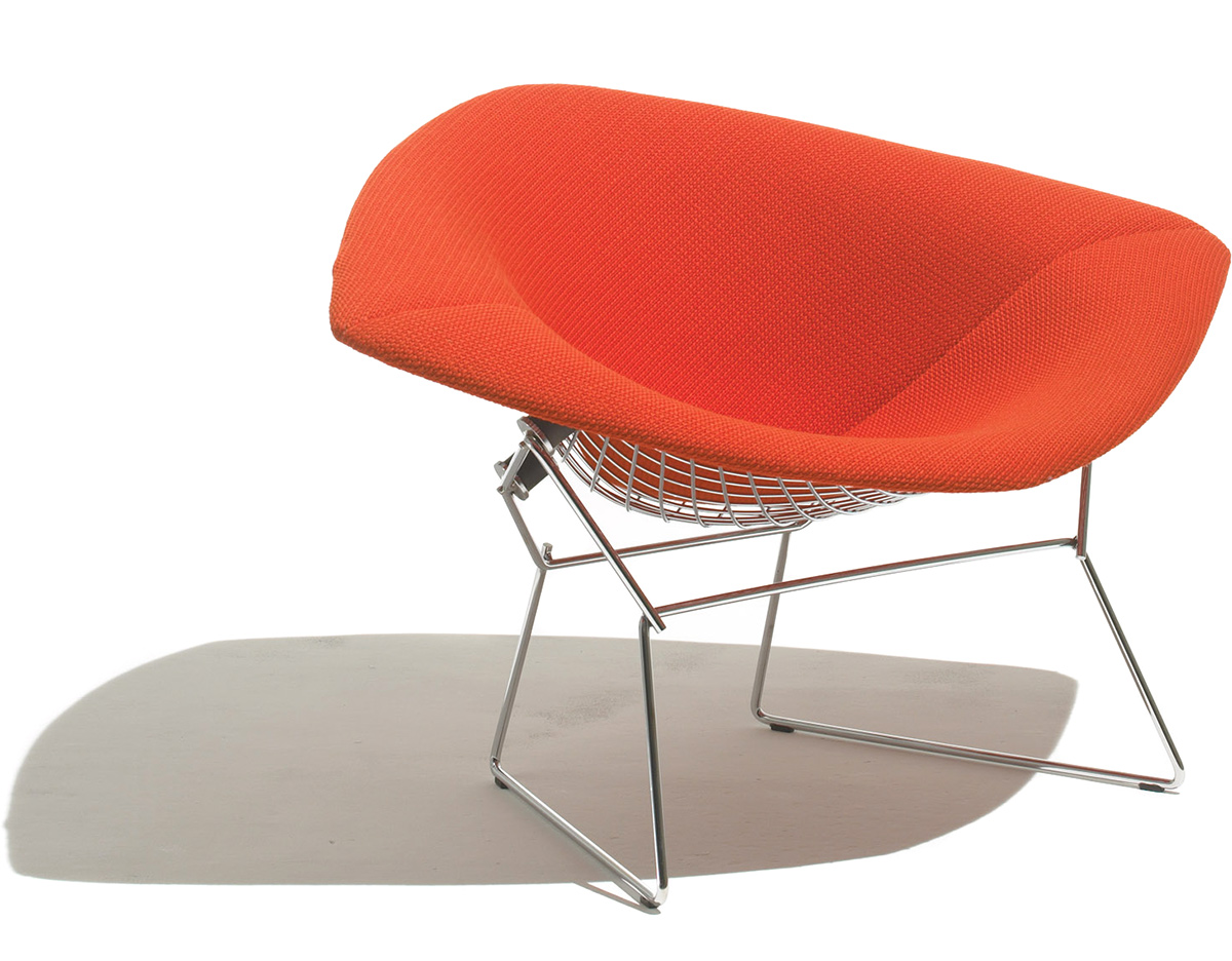 Bertoia large diamond chair with full cover for Bertoia stoel