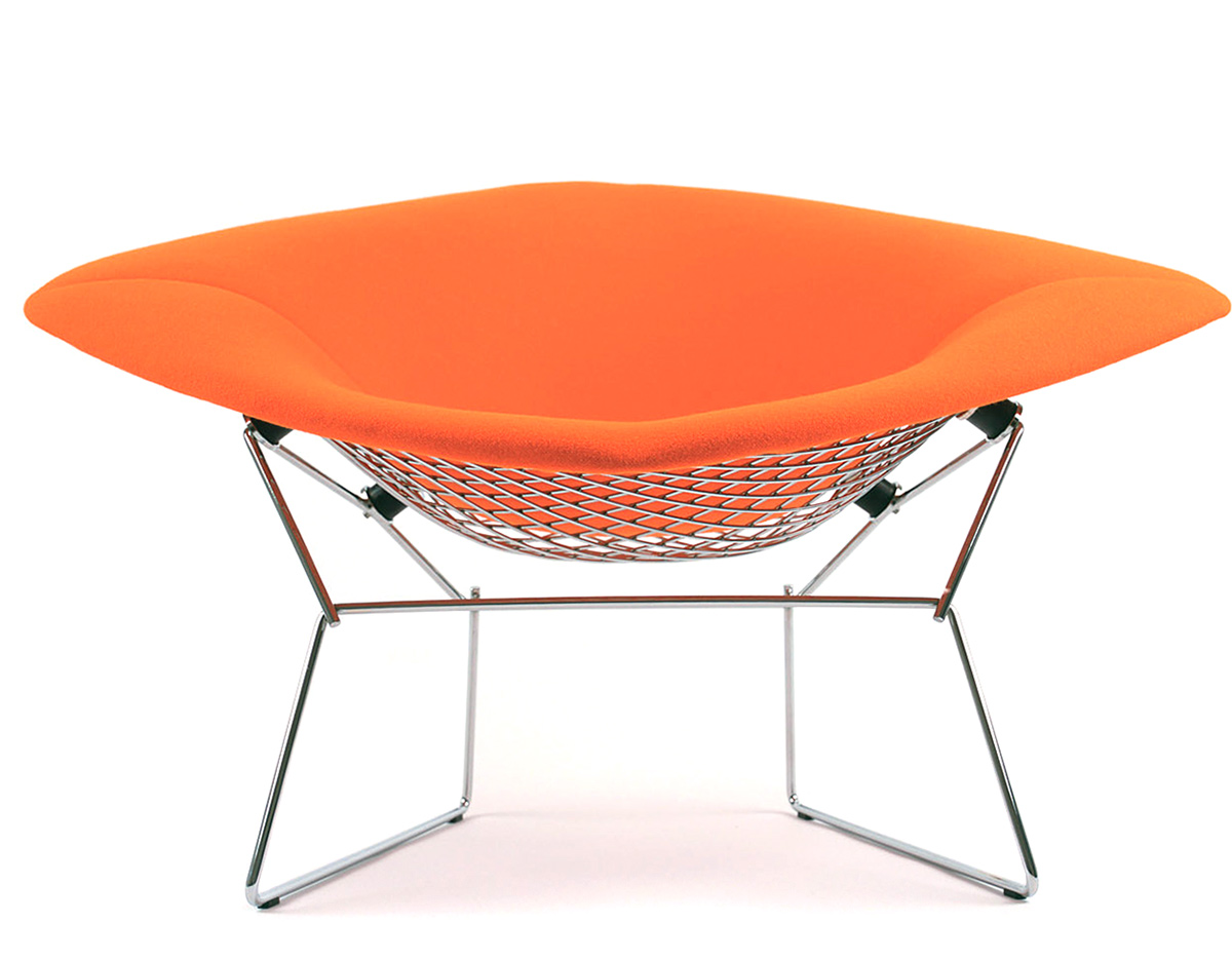 Bertoia Large Diamond Chair With Full Cover Hivemodern Com