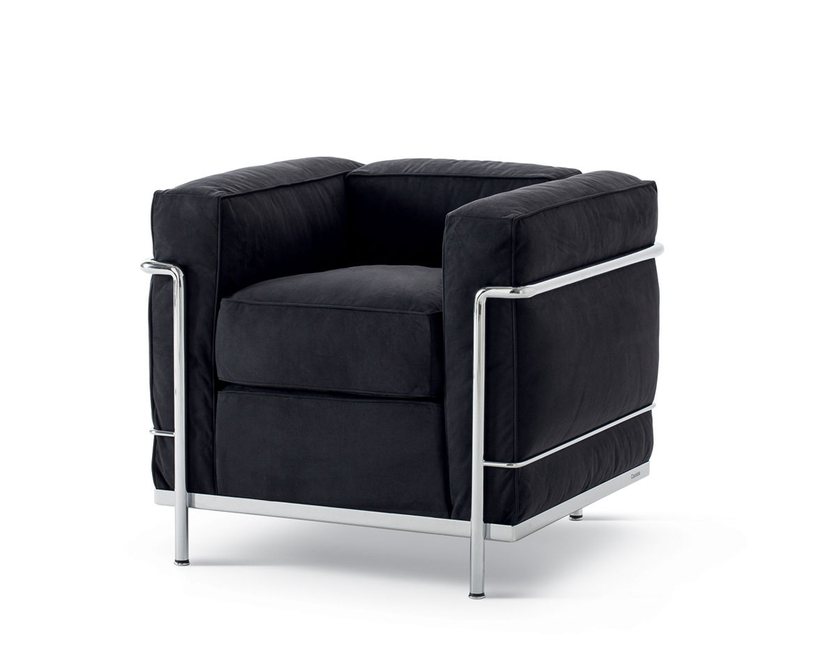 Le Corbusier Lc2 Armchair With Down Cushions Hivemodern Com