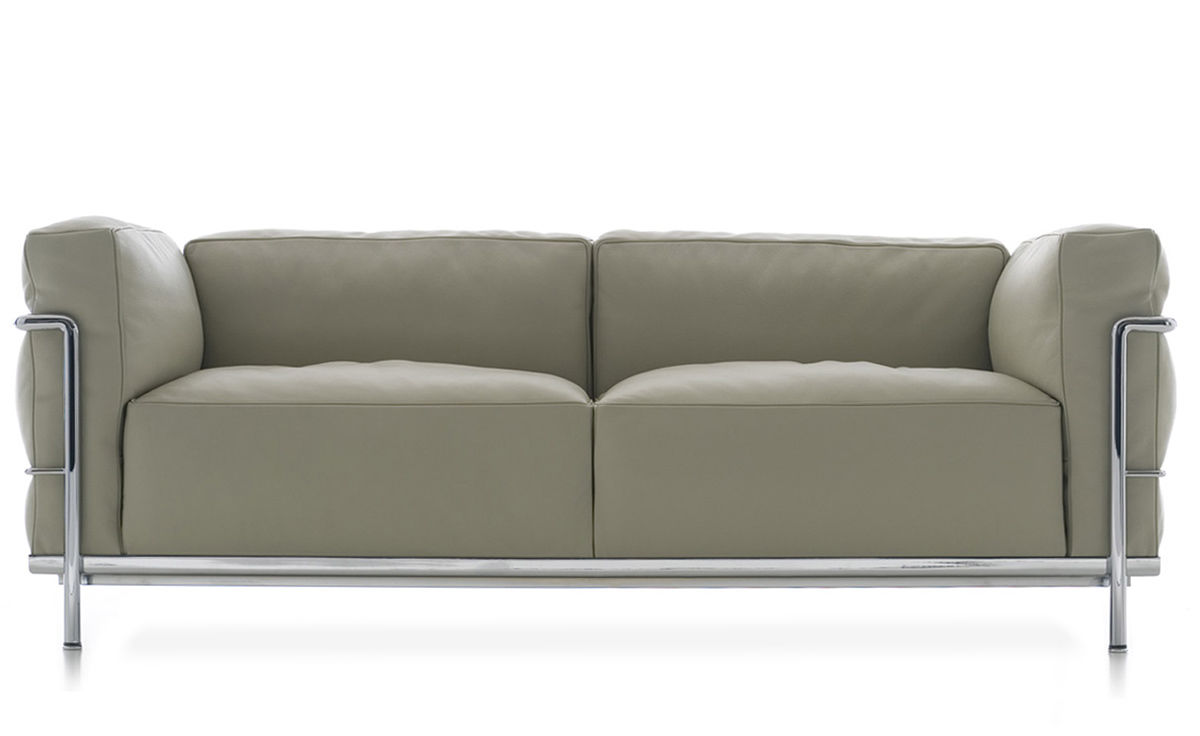 Le Corbusier Lc3 Two Seat Sofa With Down Cushions