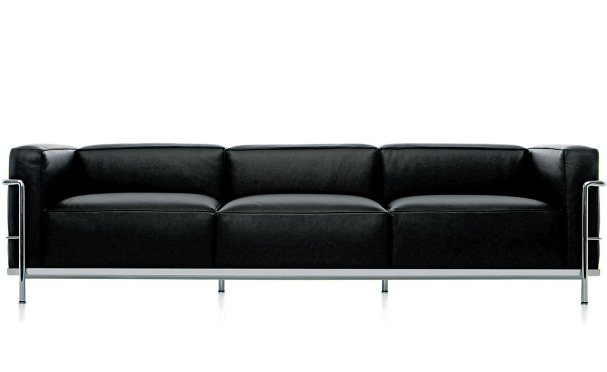 le corbusier lc3 three seat sofa. Black Bedroom Furniture Sets. Home Design Ideas
