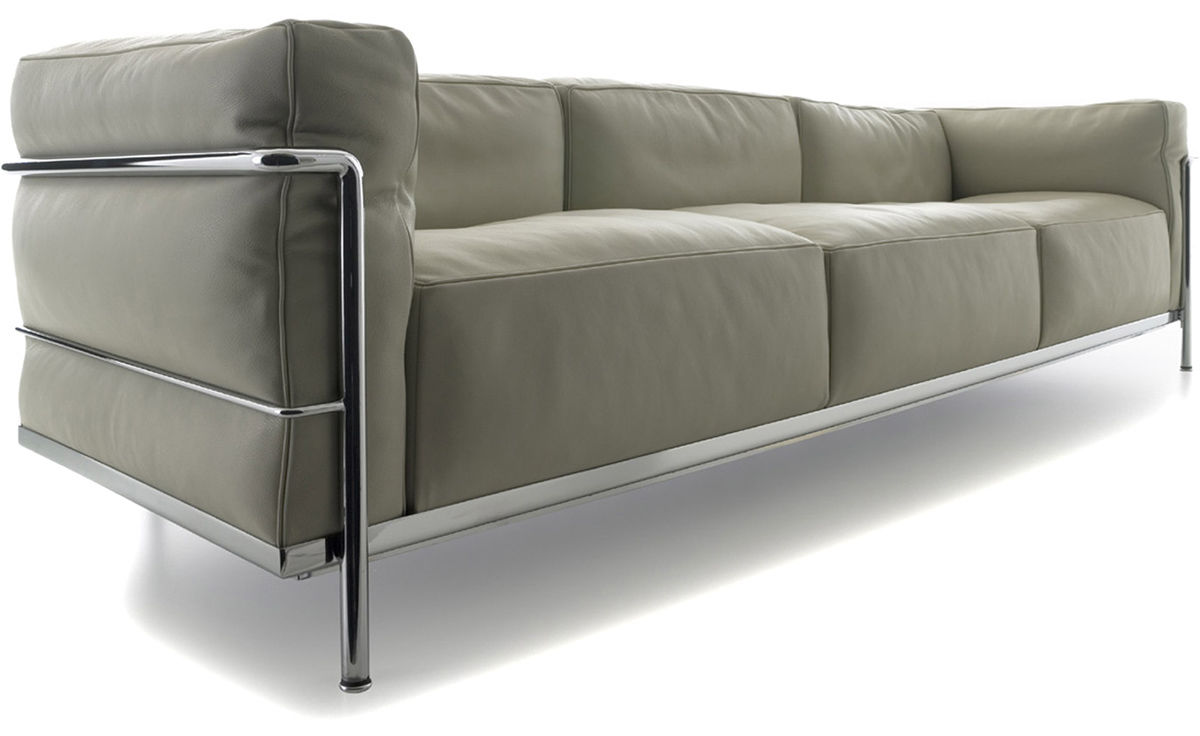 le corbusier lc3 sofa lc3 sofa corbusier zweisitzer. Black Bedroom Furniture Sets. Home Design Ideas